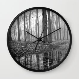 Quiet Reflections in the Forest - The Peace Collection Wall Clock