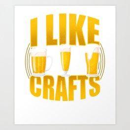 Craft Beer Gift Art Print