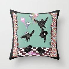 Crow Serie :: Eye Balloons (cria cuervos y te sacaran los ojos) Throw Pillow