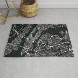 New York City Map of the United States - Dark Rug
