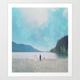 wish you were here ; Art Print