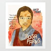 parks Art Prints featuring Rosa Parks by The History Witch