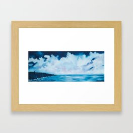 Cloudy skies over the Cliffs of Moher Framed Art Print