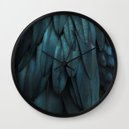 DARK FEATHERS Wall Clock