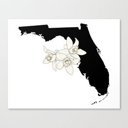 Florida Silhouette Canvas Print