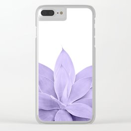 Ultra Violet Agave on White #1 #tropical #decor #art #society6 Clear iPhone Case