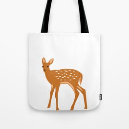 Baby Deer and Snow Tote Bag