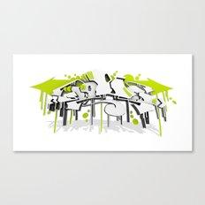 3D GRAFFITI - SWEED Canvas Print