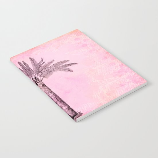 Pink Retro Palmtree Notebook