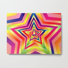 Star Colorful Rainbow Spectrums Metal Print