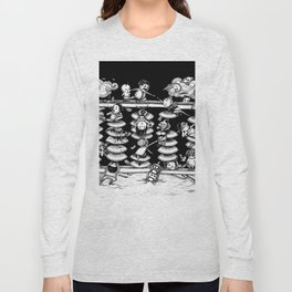 Monochrome surrealistic Illustration:Calculation/Abacus Long Sleeve T-shirt