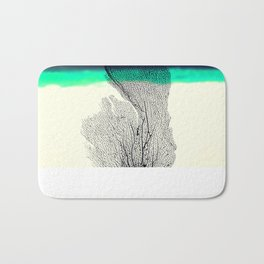 Modern Abstract Sea Coral Reef on Beach Background Bath Mat