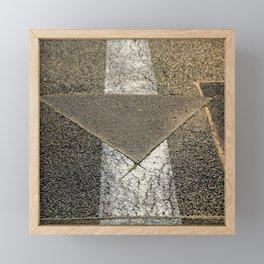 concrete arrow Framed Mini Art Print