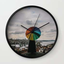 Colors in Istanbul, Turkey Wall Clock