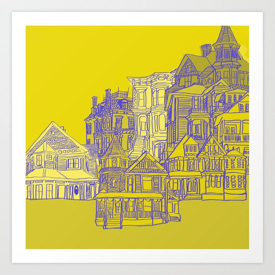 Victorians houses Art Print