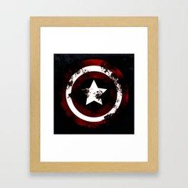 stars shield Framed Art Print