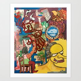 BE AFRAID Art Print
