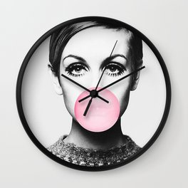 Twiggy print Wall Clock