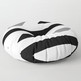 Black and white pattern 2020 001 Floor Pillow