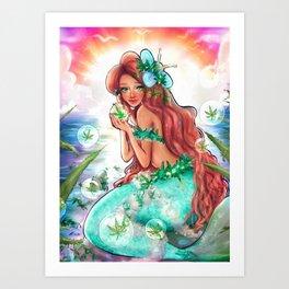 Brevard-coast Mermaidia - misscannibeesTees Art Print