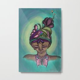 The butterfly lady Metal Print