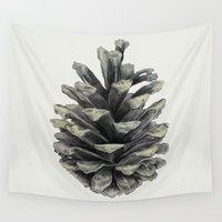 carl sagan Wall Tapestries featuring Pine Cone by Eric Fan