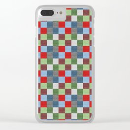 Patchwork Stye Clear iPhone Case
