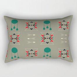 dream-catcher gray Rectangular Pillow