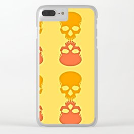 Skull Reflection Clear iPhone Case