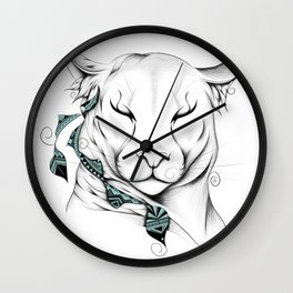 Poetic Cougar Wall Clock