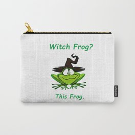 Witch Frog?  This Frog. Carry-All Pouch