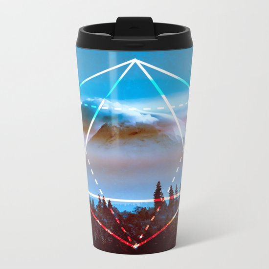 The Elements Geometric Nature Element of Air Metal Travel Mug