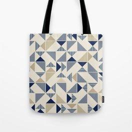 Zigzag Triangles Tote Bag