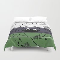 middle earth Duvet Covers featuring Middle Earth by Cécile Pellerin