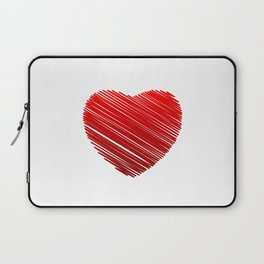 Scribbled red valentine heart- be my valentine Laptop Sleeve