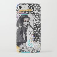 kate moss iPhone & iPod Cases featuring KATE MOSS TRIBE by Vasare Nar