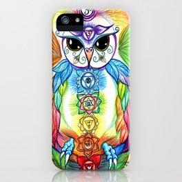 Chakra Owl iPhone Case
