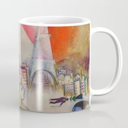 'Paris Through the Window' by Marc Chagall Coffee Mug