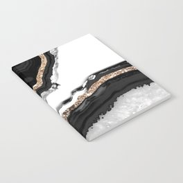 Agate Glitter Glam #2 #gem #decor #art #society6 Notebook