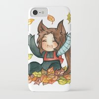 bucky iPhone & iPod Cases featuring fall - bucky by cynamon