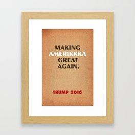 Trump Makings 7. Framed Art Print