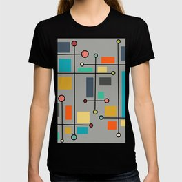 mid-century modern abstract geometric lines & shapes T-shirt