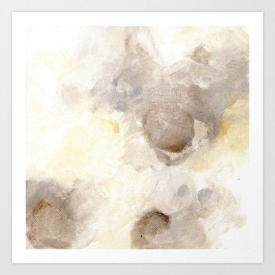 Bloom No. 1 Abstract watercolor floral Art Print