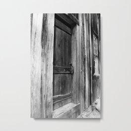 Door Between Shadows Metal Print