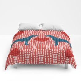 WEIMARANER HEART BLUES Comforters
