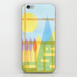 From the inside out -watercolor landscape iPhone Skin
