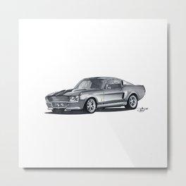 Ford Mustang Eleanor. Metal Print