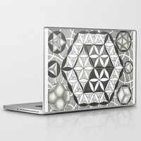 sacred geometry Laptop & iPad Skins featuring Sacred by Brandon Leung
