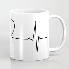 Minimalistic love heart beat design Coffee Mug