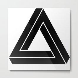 Impossible Geometry Triangle Modern Minimalism Metal Print